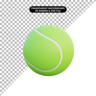 Ilustración 3d bola de deporte de objeto simple de béisbol