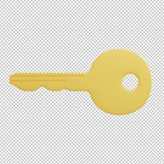 Ilustración 3d clave