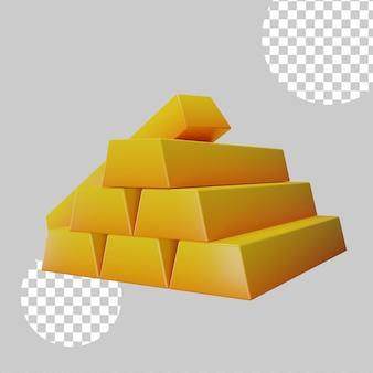 Ilustración 3d del concepto de oro