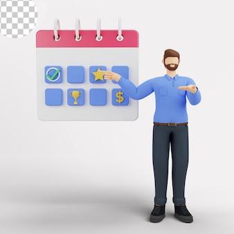 Ilustración 3d concepto de planificación estratégica