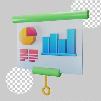 Ilustración 3d del concepto de presentación