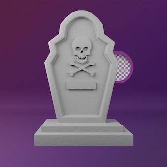 Ilustración 3d de hallowen tombstone