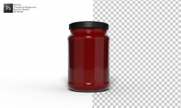 Ilustración de botella de mermelada diseño 3d