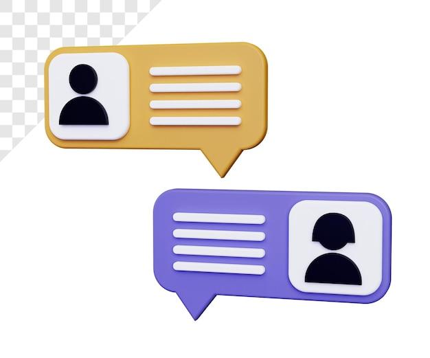 Ilustración de chat en línea 3d