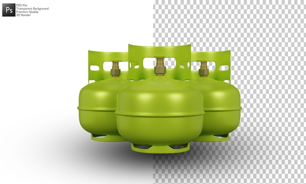 Ilustración de cilindro de gas diseño 3d