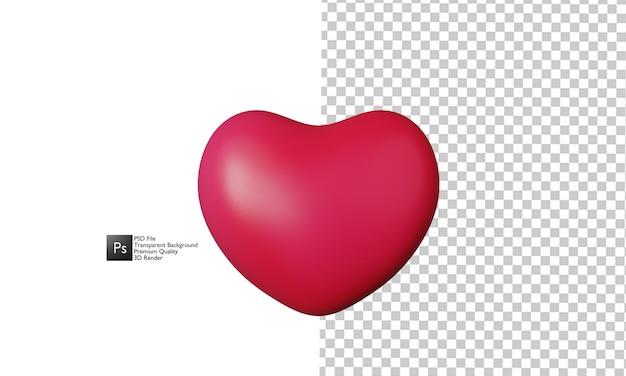 Ilustración de corazón diseño 3d