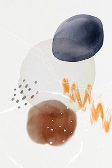 Ilustración de diseño de círculos de acuarela abstracta colorida