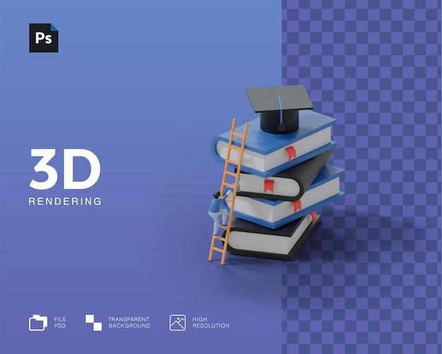 Ilustración de educación 3d