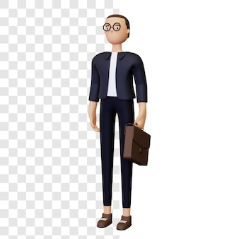 Ilustración de empresario 3d