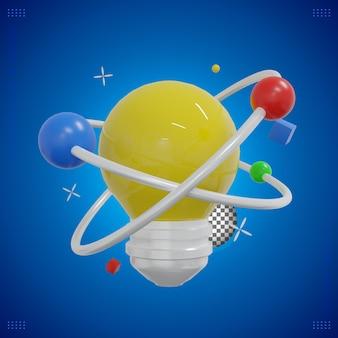 Ilustración de generación de ideas de renderizado 3d