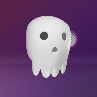 Ilustración de hallowen de cráneo de cabeza 3d