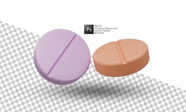 Ilustración de medicina diseño 3d