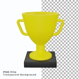 Ilustración de objeto de icono de trofeo 3d de alta calidad