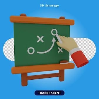 Ilustración de presentación de estrategia de renderizado 3d