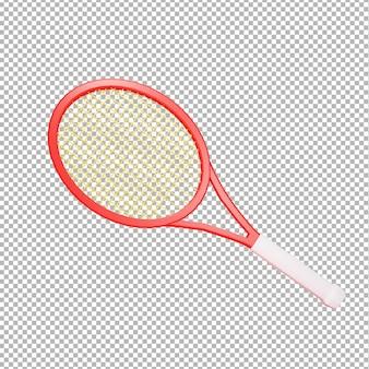 Ilustración de raqueta de tenis 3d