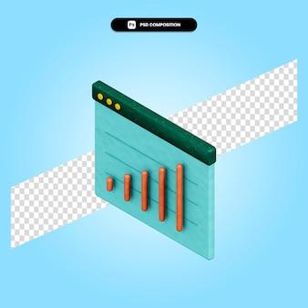 Ilustración de render 3d de análisis de negocios aislado