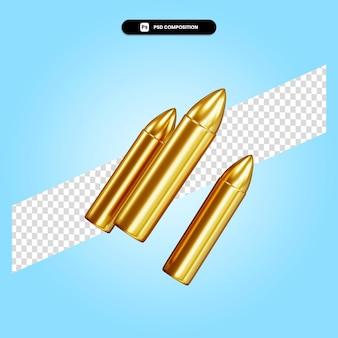 Ilustración de render 3d de bala aislado