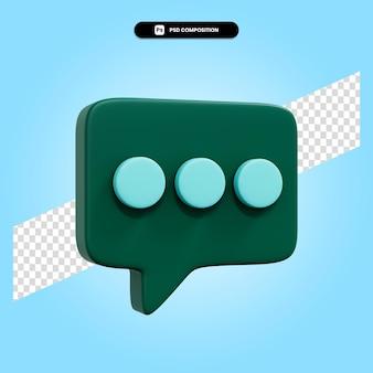 Ilustración de render 3d de burbujas de discurso aislado