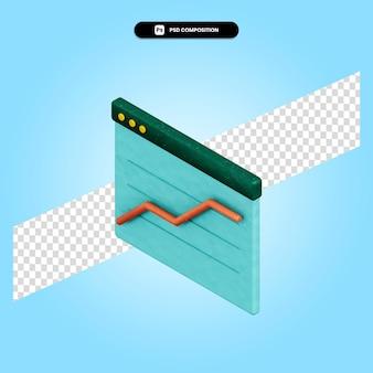 Ilustración de render 3d de business analytics aislado