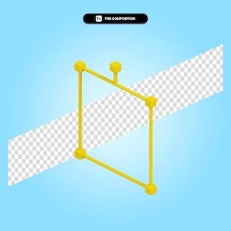 Ilustración de render 3d de cuadro delimitador aislado