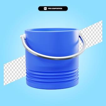 Ilustración de render 3d cubo aislado