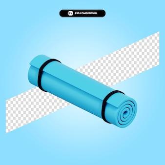 Ilustración de render 3d de estera de yoga aislado