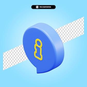 Ilustración de render 3d de información aislada