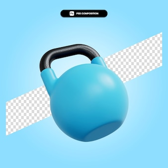 Ilustración de render 3d de kettlebell aislado