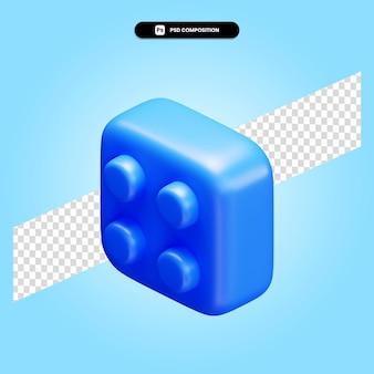 Ilustración de render 3d de lego aislado