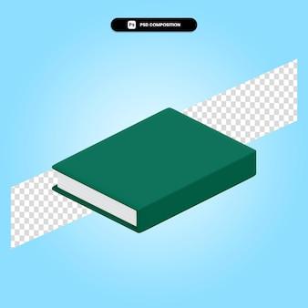Ilustración de render 3d de libro aislado