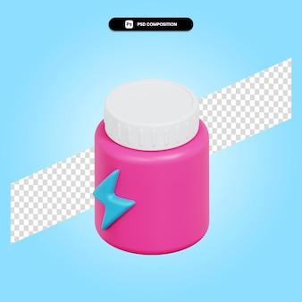 Ilustración de render 3d de píldoras aislado