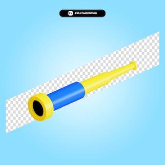 Ilustración de render 3d de telescopio aislado