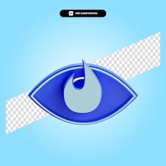 Ilustración de render 3d de visión aislada
