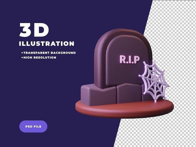 Ilustración de renderizado 3d de lápida
