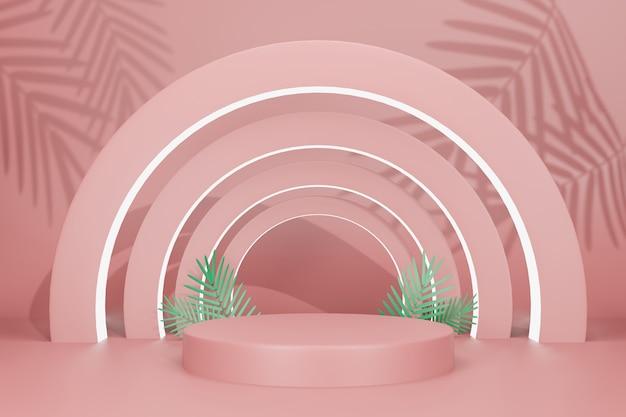 Ilustración de renderizado 3d maqueta de pantalla de escenario