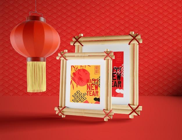 Ilustración simple para año nuevo chino