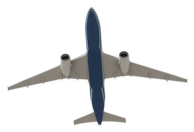 Imagen tridimensional de un avión.