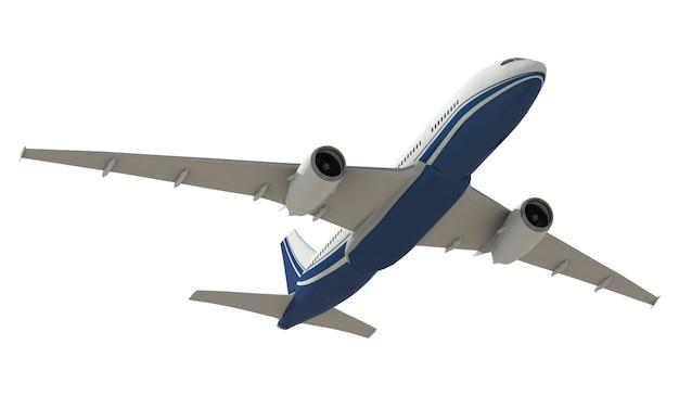 Imagen tridimensional de un avión