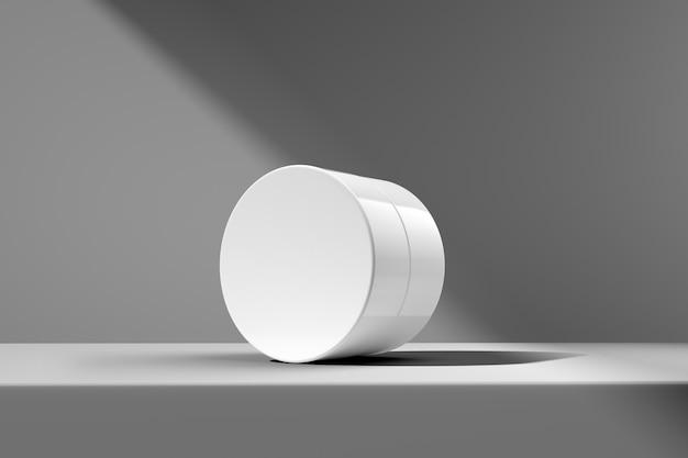 Imballaggio bianco di prodotti cosmetici