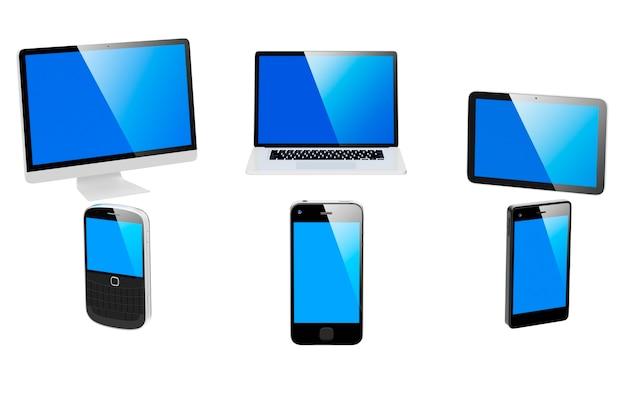 Immagine tridimensionale di dispositivi digitali