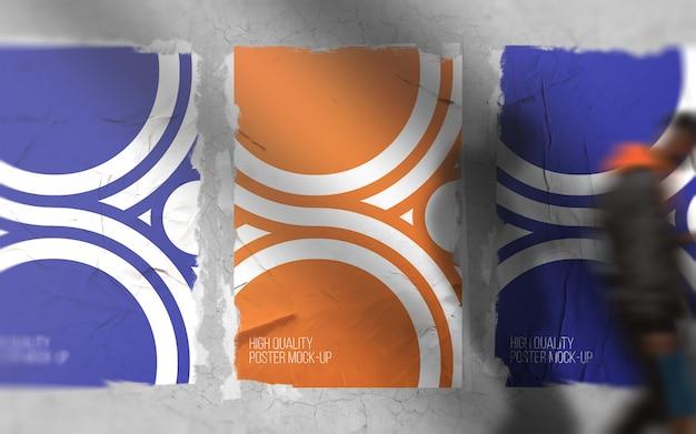 Impresión de póster en maqueta de pared