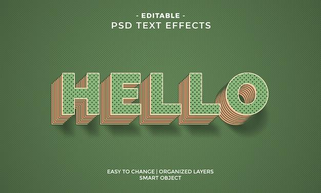 Impresionante colorido efecto de texto hola