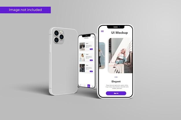 Impresionante diseño de maquetas de teléfonos inteligentes en representación 3d