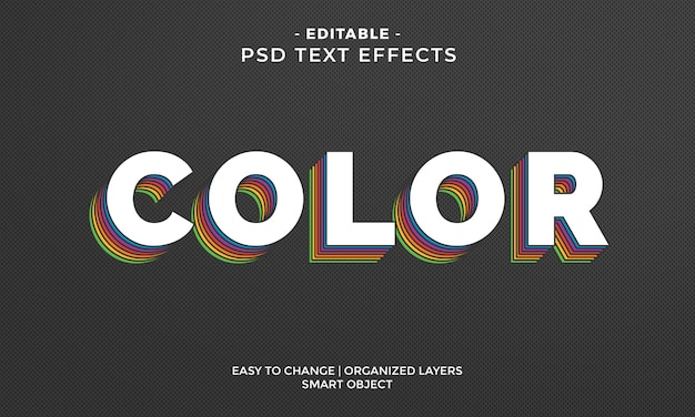 Impresionante efecto de texto colorido