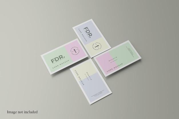 Impresionante maqueta de tarjeta de visita minimalista