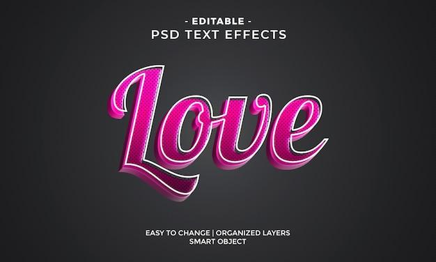 Impresionantes efectos de texto de amor coloridos