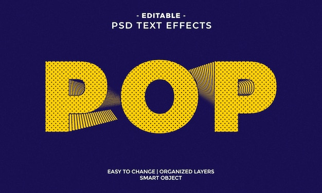 Incredibile effetto di testo pop colorato