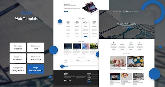 Inda-websjabloon voor bedrijven en bureaus