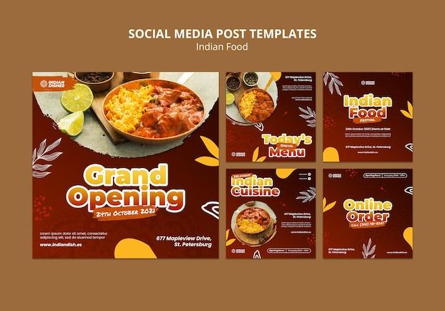 Indiaas eten restaurant ig berichten set