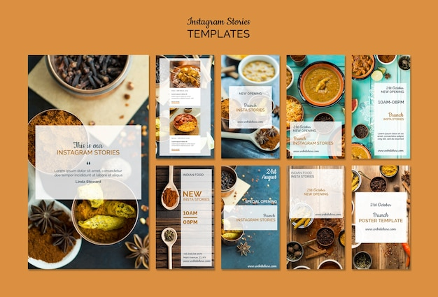 Indisch eten instagram verhalen collectie